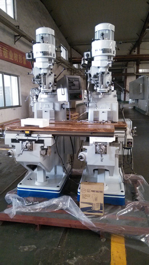milling machine in workshop ready for ship
